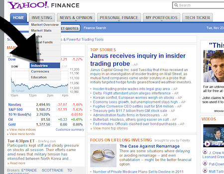 How to find a job with Yahoo Finance