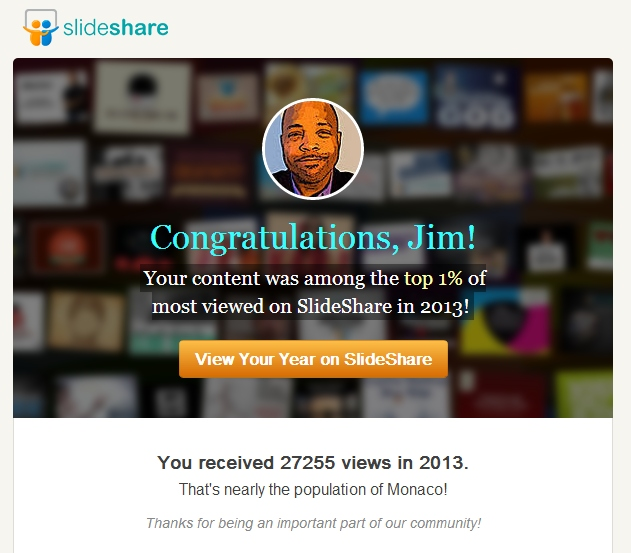My content is resonating on slideshare