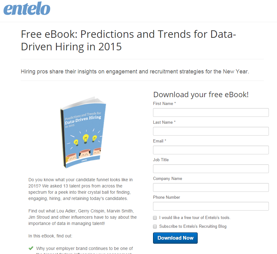 Free eBook: Predictions and Trends for Data-Driven Hiring in 2015