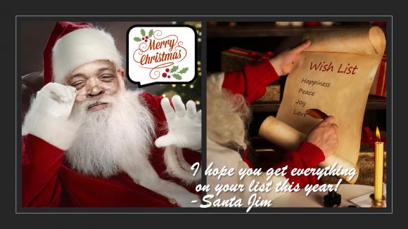 Jim Stroud as Santa Claus