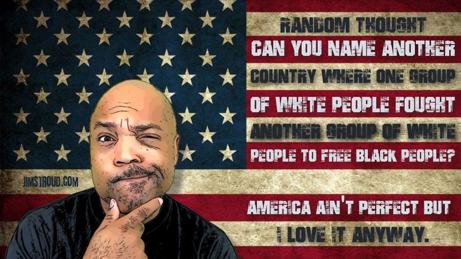 Black conservative says God bless America.
